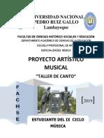 Proyecto Artistico Taller de Coro