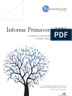 Informe Observatorio Social - Primavera 2009