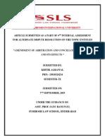 Arbitration & Conciliation Amendment Act, 2015