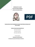 Consolidacion de Ef Bajo Enfoque Niif Para Las Pymes Para Un
