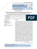 ASSESSMENT OF COMMUNITY PARTICIPATION IN IMPLEMENTATION OF RURAL WATER SUPPLY SCHEMES