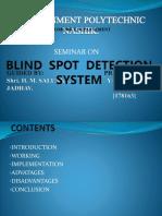 BSD blind spot detection system ppt