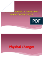3 Changes in Health Dimensions During Adolescence