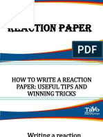 reaction paper ppt