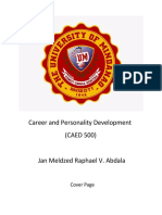 Career and Personality Development Cover Page