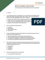 PMP Classroom Testpaper