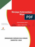 Capaian Migas Indonesia 2018