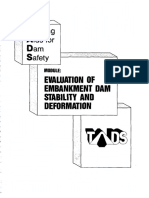 Evaluation of Embankment Dam Stability and Deformation