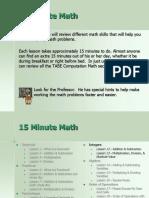 15minute Math Integers