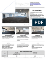 Event Space - Fact Sheet