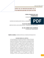 Artículo RETOS Y DESAFÍOS DE LOS INVESTIGADORES DE LA  FORMACIÓN DE INVESTIGADORES EN EDUCACIÓN