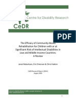 Efficacy of CBR