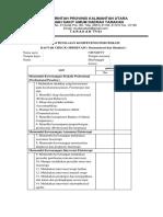Form Cek List Fisioterapi