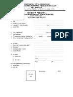 Biodata Peserta Pelatihan Cpns