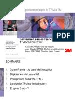 Amélioration de la performance par la TPM à 3M en France