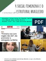 A Minoria Social Feminina e o Machismo Estrutural Brasileiro