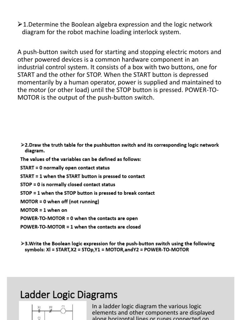 Ladder Logic Diagrams Switch Logic Gate