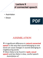 Lecture 9 - Aspect of Connected Speech - Assimilation.elision