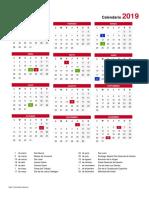 Calendario LCG 2019
