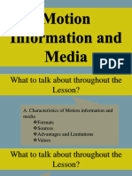 Lesson 15 Motion Information and Media