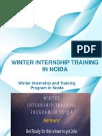 Winter Internship Training in Noida