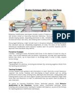 Behaviour Modification Techniques in the Class Room