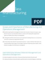 World Class Manufacturing Unit I II