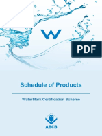 Schedule of Products WaterMark