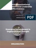 Emerging Development in Organizational Thought
