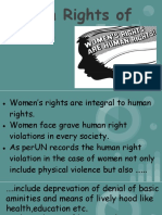 HUMAN RIGHTS OF WOMEN