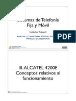 ALCATEL 4200E Conceptos Relativos Al Funcionamiento