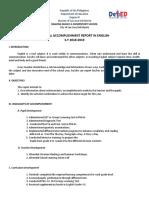 Annual Accomplishment Report in English