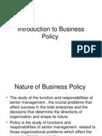 introductiontobusinesspolicy