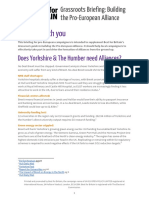 Best for Britain - Yorkshire & the Humber - Pro-EU Alliance Regional Briefing