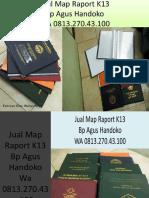 WA 0813.270.43.100, Jual Harga Map Raport K13 di Stabat Sumatra Utara