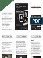 """Tríptico - Portraittheater desembarca en la Facultad de Física de la Universidad de Sevilla con su obra de teatro """"Curie_Meitner_Lamarr_indivisible"""""""