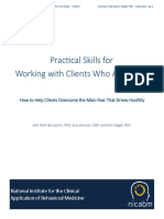 practical skills for working with client anger