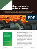Calcium Sulfonate Complex Greases