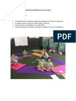 Academia de Mindfulness 1er Ciclo Escolar