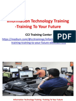 Information Technology Training -Training to Your Future