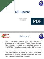 GST Update  05-01-2019