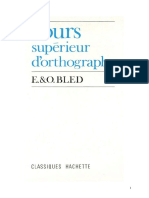 BLED 1 Cours Superieur d Ortographe Officiel