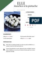 Truffes blanches pistaches recette