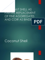 Coconut Shell as Partial Replacement of Fine Aggregates
