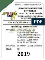 TAREA N° 01 METODOLOGÍA  - EDUCACIÓN