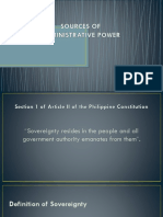 Sources of Administrative Power
