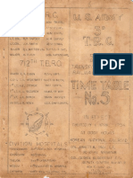 712th Timetable Korea 1954