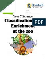 animal enrichment zoo visit booklet