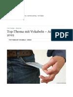 Top-Thema Mit Vokabeln – Archiv 2019 - Top-Thema - Archive - DW - 28.12.2018