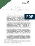 El Gasto Público en Dólares y Su Relevancia Para La Economía Argentina. Joaquin Cottani